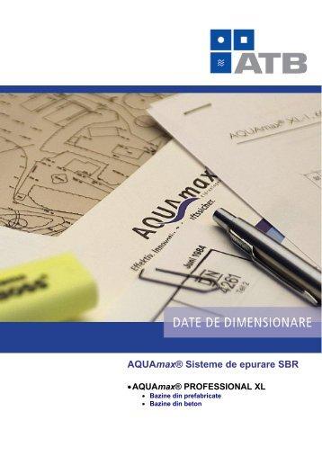 AQUAmax ® PROFESSIONAL XL - Dimensionare bazine