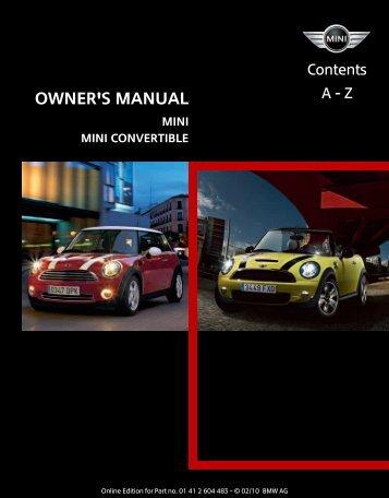 mini mini convertible mini clubman rh yumpu com 2010 mini cooper owner manual 2010 mini cooper clubman owners manual