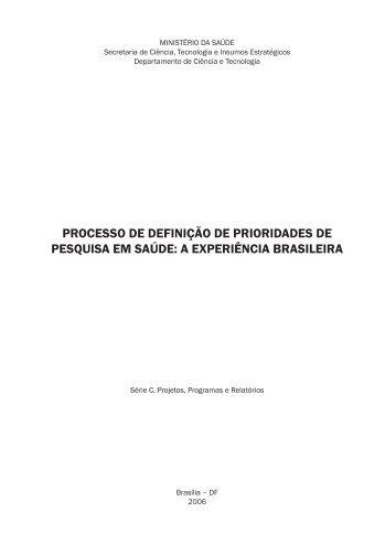 Prioridade de Pesquisa_DIAGRAMADO.indd - BVS Ministério da ...