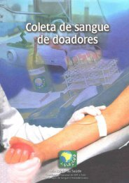 O doador de sangue ea Unidade Hemoterápica - BVS Ministério da ...