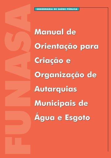 Manual de Orientação para Criação e Organização de Autarquias ...