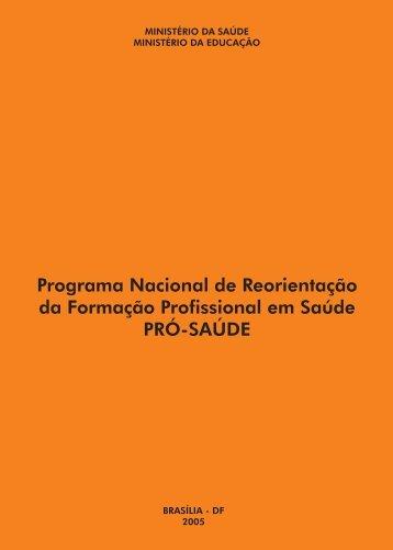 Programa Nacional de Reorientação da Formação Profissional em ...