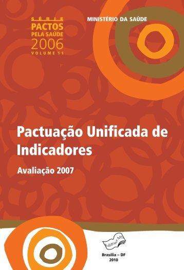 Pactuação Unificada de Indicadores - BVS Ministério da Saúde