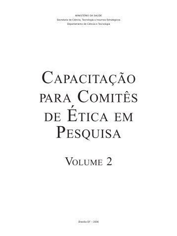 capacitação para comitês de ética em pesquisa - BVS Ministério da ...