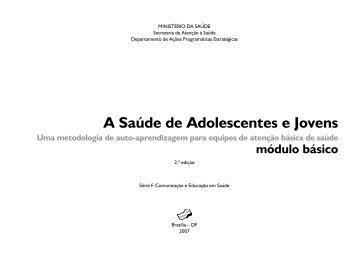 A Saúde de Adolescentes e Jovens - BVS Ministério da Saúde