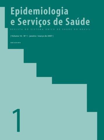 Epidemiologia e Serviços de Saúde Volume 16