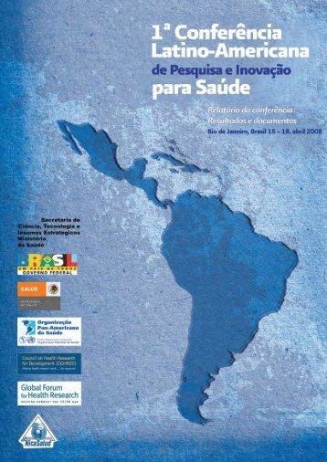 1ª Conferência Latino-Americana para Saúde. - BVS Ministério da ...