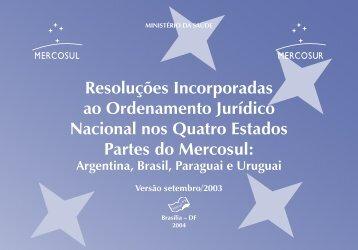 2004 0085 Resolucoes Mercosul-livro.indd - BVS Ministério da Saúde