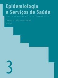 Epidemiologia e Serviços de Saúde Volume 15 - Nº 3 - Pró-Saúde