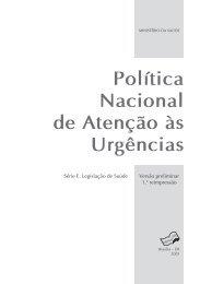 Política Nacional de Atenção às Urgências - BVS Ministério da Saúde