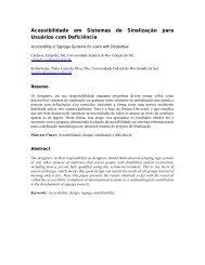 Acessibilidade em Sistemas de Sinalização para Usuários com ...