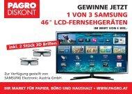 Teilnahmekarte Samsung LCD TV Gewinnspiel.indd - Pagro