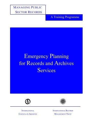 disaster planning and control - International Records Management ...