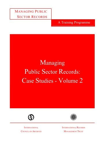 managing public sector records: a study programme - International ...