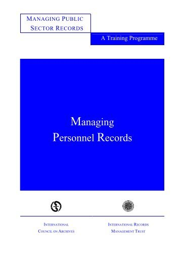 Managing Personnel Records - International Records Management ...
