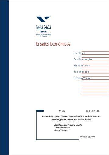 Indicadores coincidentes de atividade econômica e uma cronologia ...