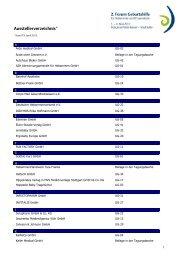Ausstellerverzeichnis 2. Forum Geburtshilfe - MVS Medizinverlage Stuttgart