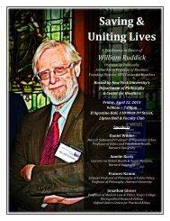 Saving & Uniting Lives - Bioethics - New York University