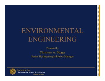 ENVIRONMENTAL ENGINEERING - The Leitzel Center