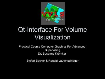 Qt-Interface For Volume Visualization - pille