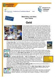 Materialien und Ideen zum Thema Geld - ANU Hamburg