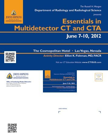 Essentials in Multidetector CT and CTA - Hopkins CME Blog