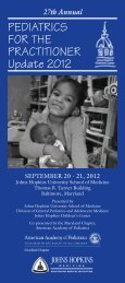 27th Annual PEDIATRICS FOR THE PRACTITIONER Update 2012