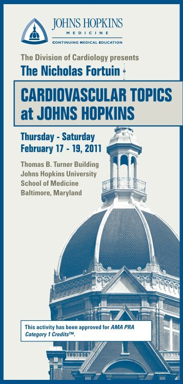 CardiovasCular TopiCs at Johns hopkins - Hopkins CME Blog