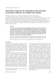 Interactions between the atmosphere and terrestrial ecosystems ...