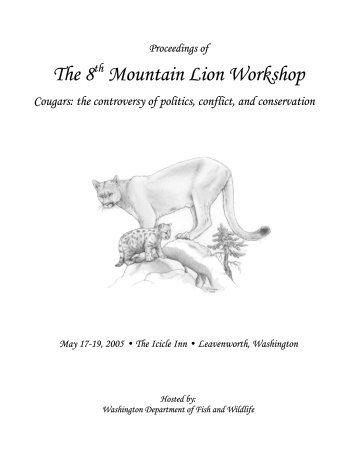 The 8 Mountain Lion Workshop - Mountain Lion Foundation