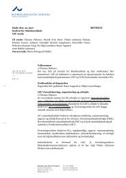 business and social sciences referat - Medarbejdere - Institut for ...