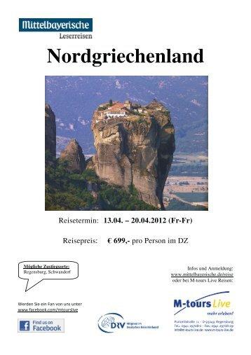 04 13 Reiseprogramm Nordgriechenland