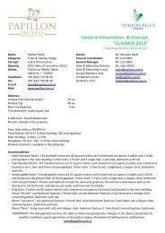 "General Information & Concept ""SUMMER 2013"""