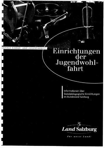 Land Sbg Einrichtungen der Jugendwohlfahrt.pdf - Seite wir geladen...