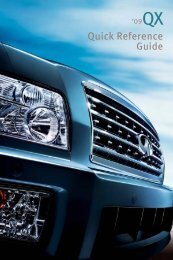 2009 QX Quick Reference Guide - Infiniti Owner Portal