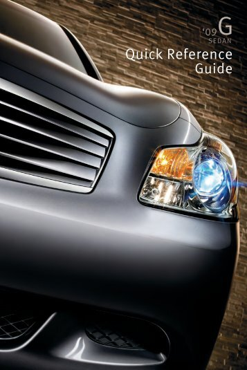 2009 G37 Sedan Quick Reference Guide - Infiniti Owner Portal