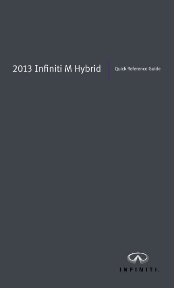 Quick Reference Guide - Infiniti Owner Portal - Infiniti USA