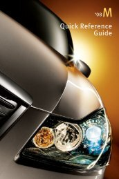 2008 M Quick Reference Guide - Infiniti Owner Portal