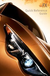 2009 FX50/FX35 Quick Reference Guide - Infiniti Owner Portal