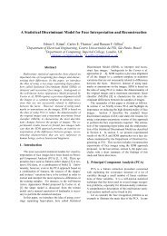 A Statistical Discriminant Model for Face Interpretation and ... - Fei
