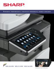 MX-2610N | MX-3110N | MX-3610N Brochure - Copiers