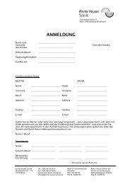 ANMELDUNG - Annie Heuser Schule