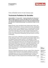 Technische Perfektion für Genießer
