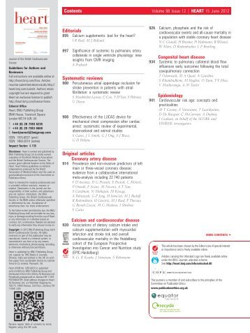 Table of contents PDF - Heart - BMJ