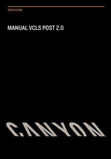 MaNUaL VCLS PoSt 2.0 - Canyon