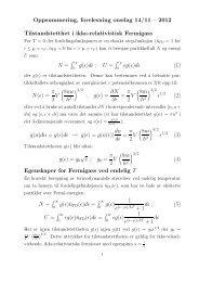 Oppsummering, forelesning onsdag 14/11 – 2012 Tilstandstetthet i ...