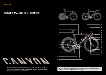 BICYCLE MANUAL SPEEdMAx CF - Canyon