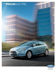 2013 FOCUS ELECTRIC - Ford
