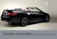 Genuine Accessories for the E-Class Coupe & Convertible