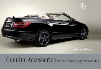 Genuine Accessories for the E-Class Coupe & Convertible